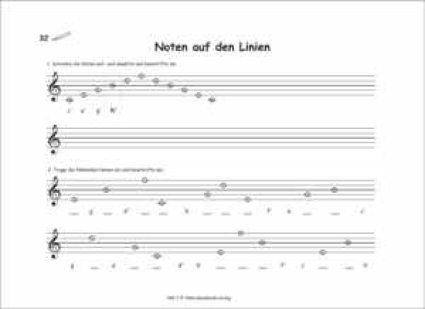 onlineshop des akkordeonkinderverlages  noten auf den linien